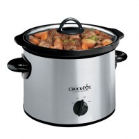 Crock-Pot SCR300SS 3-Quart Round Manual Slow Cooker